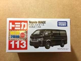 日版現貨 Tomica No.113 Toyota Hiace 優惠價$35