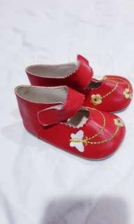 Baby leather Red Shoes