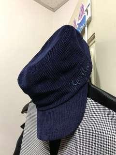 🚚 GU x Kim Jones 燈芯絨鴨舌帽 貝雷帽 深藍