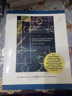Systems Analysis & Design for the Global Enterprise by Bentley and Whitten