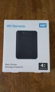 🚚 WD 4TB external hard drive portable