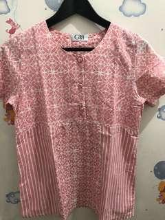Atasan Blouse Batik Pink by Batik Gaya