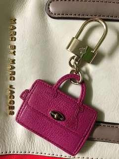 Authentic Mulberry Leather Keychain