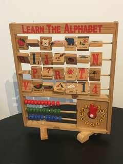 LEARN ALPHABETS - wooden toy