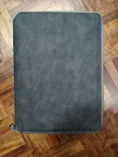 Notebook with casing