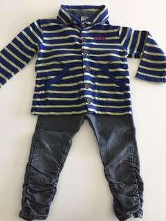 Boy hooded jacket skinny pants 男童 長褲 夾克 連帽上衣