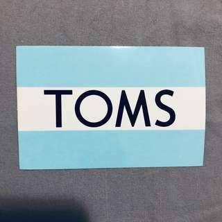 🚚 TOMS logo 防水貼紙💙