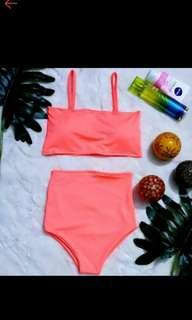 Coral Two Piece high waisted swimwear