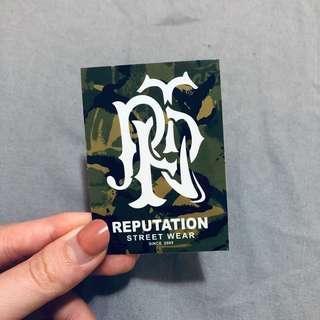 🚚 Reputation 迷彩logo 防水潮牌貼紙🖤