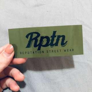 🚚 Reputation logo 防水潮牌貼紙🖤