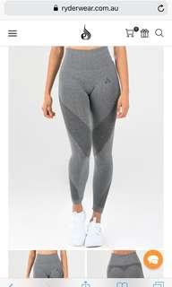 Ryderwear seamless grey leggings XS