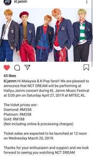 NCT DREAM IN MALAYSIA TICKETING SERVICE