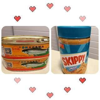 Skippy 花生醬 & 香辣豆豉魚