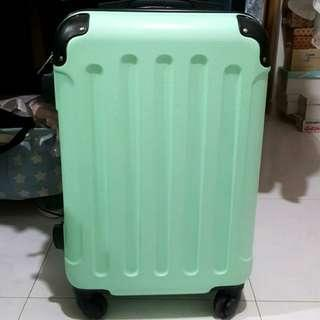 "🚚 20"" Cabin Size Mint Green Polycarbonate Zipper Luggage"