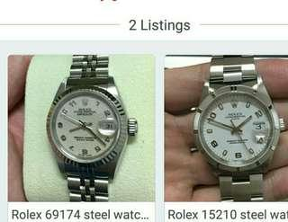 2 x Rolex package $8k, very good condition couple watch