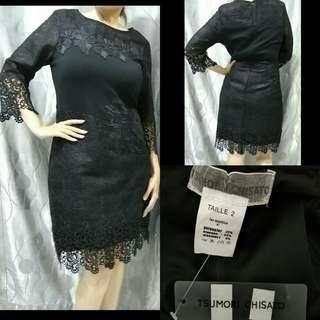 TSUMORI CHISATO Black Lace Dress