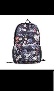 🚚 Floral Backpack (dark blue)