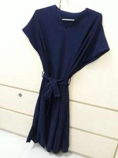 Baju midi dress blue