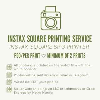 Instax Square Printing Services
