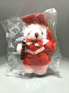 🚚 全新畢業小熊 畢業熊 紅色/粉紅色 玩偶 熊熊