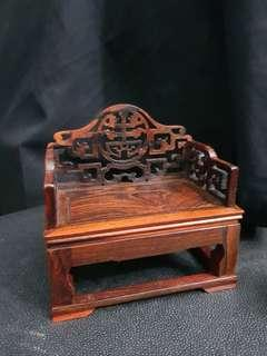 Miniature Furniture-an Old-fashioned Wooden Armchair