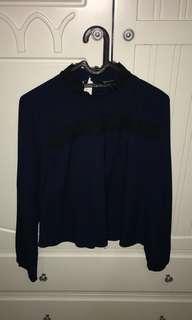 the executive navy blouse