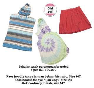 NEW! Girls clothes 14Y, 3 pcs