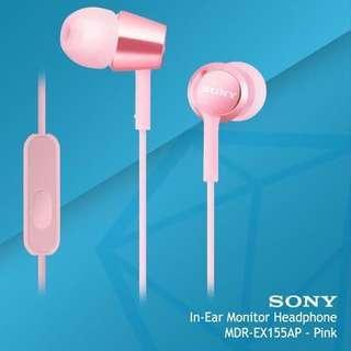 Sony MDR-EX155AP In-ear Headphones in Pink