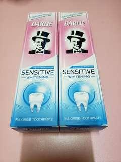 全新黑人敏感美白牙膏120g