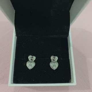 🚚 Authentic Pandora Love Locks earrings