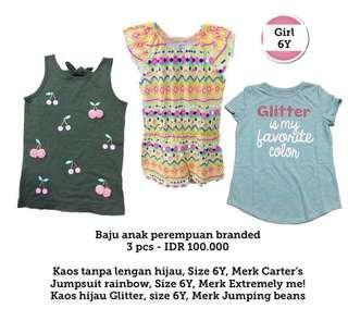 Girls Clothes 6Y, 3 Pcs