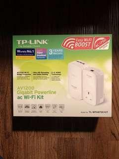 🚚 Tp-link AC1750 AV1200 Gigabit Powerline AC Wifi Kit Range Extender TL-WPA8730