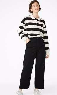 Monki Wide Leg Ankle Length Jeans