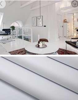 🚚 Matte and Glossy Plain White PVC Stickers