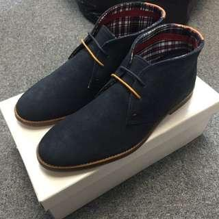 100%new UK BEN SHERMAN chukka boots 皮鞋 US 9