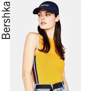 🚚 Bershka Ribbed top in Mustard
