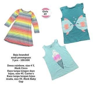 Girl Clothes 4Y, 3 Pcs