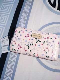 (free ongkir) Stradivarius Floral Wallet