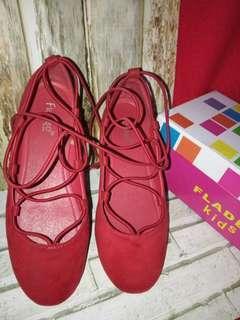 #ramadansale Flat shoes anak/sepatu anak FLADEO Red