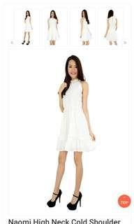 Naomi white dress #Dressforsuccess30