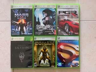Xbox 360 Games: Set of 6 (see description)