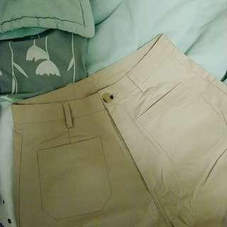🚚 Meier q mq 簡約雙口袋卡其長褲