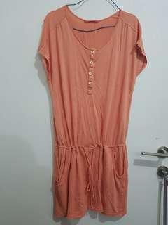 Dress Peach Ninety Degrees