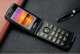 Mobile phone with keypad and folding LCD