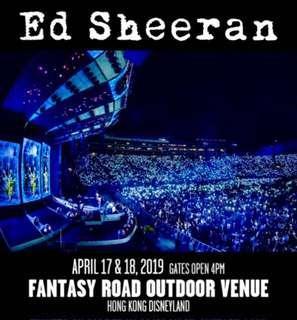 2x Ed Sheeran tickets at original price (18 Apr)