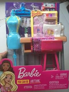 barbie sewing machine set