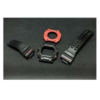 BNB Bezel backcase Strap Original G-SHOCK GX-56-1A black red