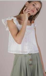 TTR DANA EYELET TOP WHITE