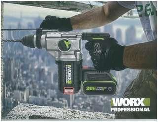 WORX WU388 20v Cordless Hammer (Brushless Motor)