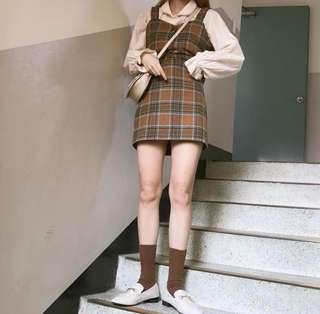 Ulzzang Checkered Skirt